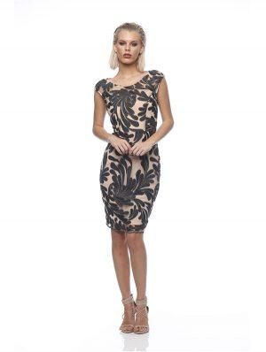 Rose Cap Sleeve Dress