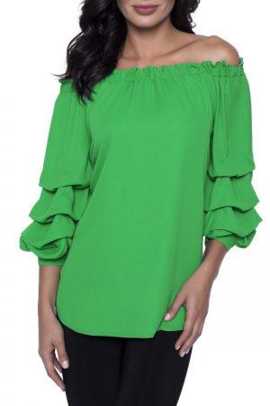 201257 Green Woven Top